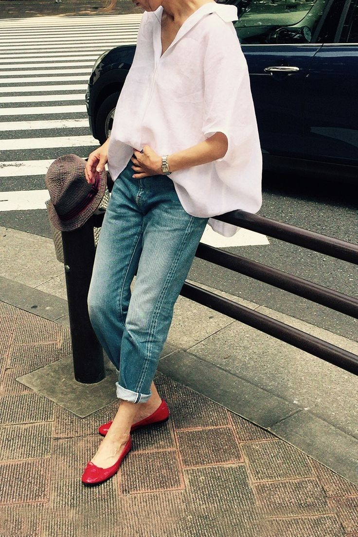 Kyoko Kikuchi's Closet #kk-closet リネンブラウス&デニムを女っぽく着る2