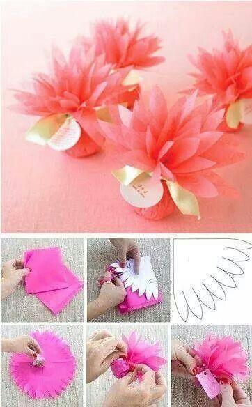Blumige Verpackung aus Seidenpapier