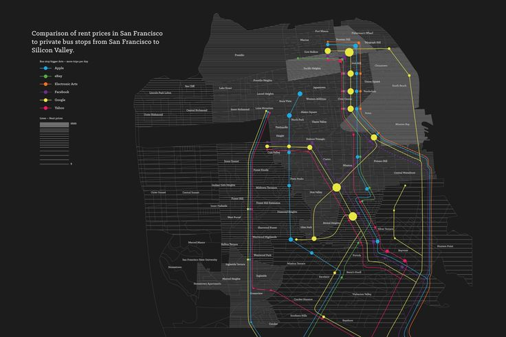Map Shows SF Rent Prices vs. Shuttle Locations - The Bold Italic - San Francisco