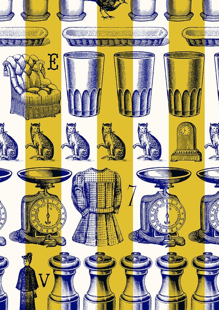 pattern by Minakani #stripe #collage #minakani