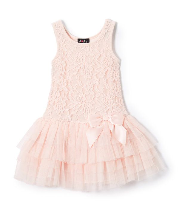 Look at this Lilt Blush Lace & Tulle Drop-Waist Dress - Toddler on #zulily today!