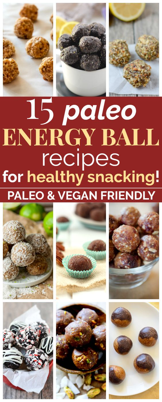 15 Paleo Energy Ball Recipes Perfect for Healthy Snacking | These clean eating energy bite recipes look SO GOOD! They're loaded with protein and antioxidants and will make amazing snacks for me and my family! I love that they're vegan, paleo, gluten-free,