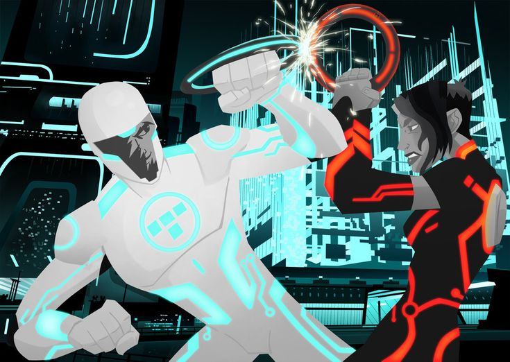 Tron Uprising: Beck vs Paige by CaptainUnobservant