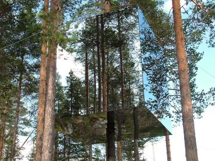 The mirror cube, The Tree Hotel, Sweden