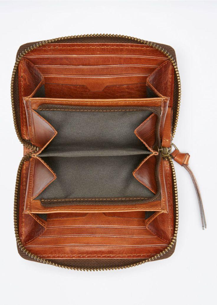 MARC O'POLO, Damen, Schuhe & Accessoires, Geldbörsen, Zweiteiliges Geschenk-Set, aus echtem Saddle Vaccheta