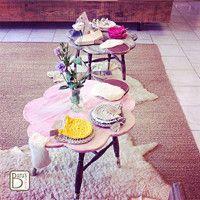 Ovečka stolek *růžová kudrlinka*   www.barus-trivia.com #table#sheep#funny #table#sheep