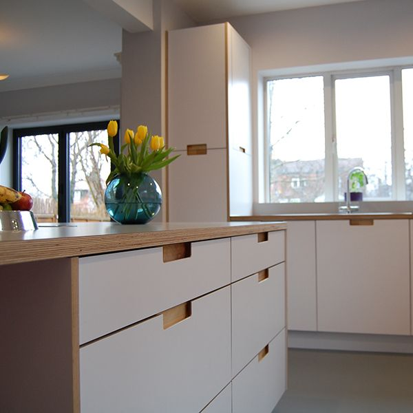 Scandinavian Kitchen Leeds birch ply and formica nestkitchens.co.uk