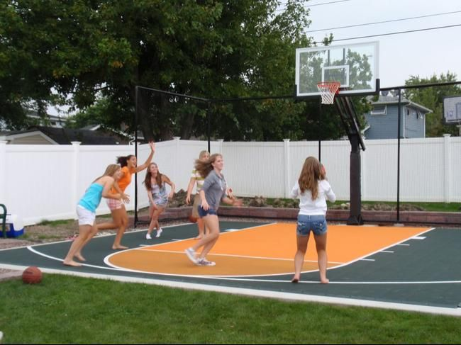 Basketball Court In Backyard All Basketball Scores Info