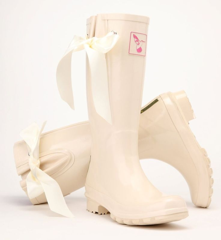 £46.99 - Ladies Evercreatures Cream I DO Wedding Wellies Bridal Wellingtons Boots -UK 3-8