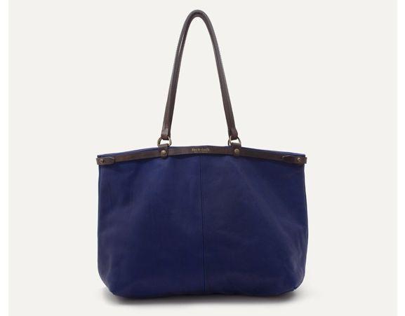 BLEU DE CHAUFFE - Adèle blue tote bag. Made in France.