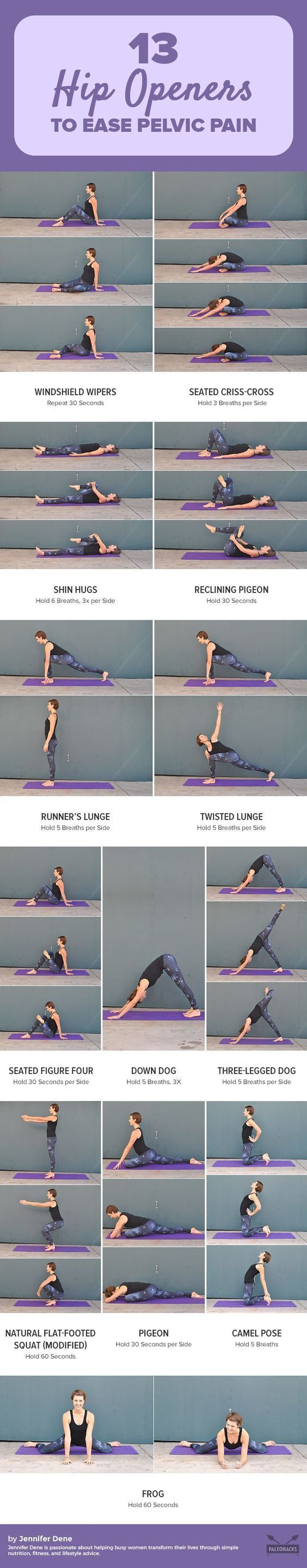 Are your tight hips putting a cramp in your lifestyle? Tight hips can lead to back pain and sciatica, and prevent you from doing activities that you enjoy. Try these 13 feel-good hip openers to loosen those muscles today. Get the workout here: http://pale