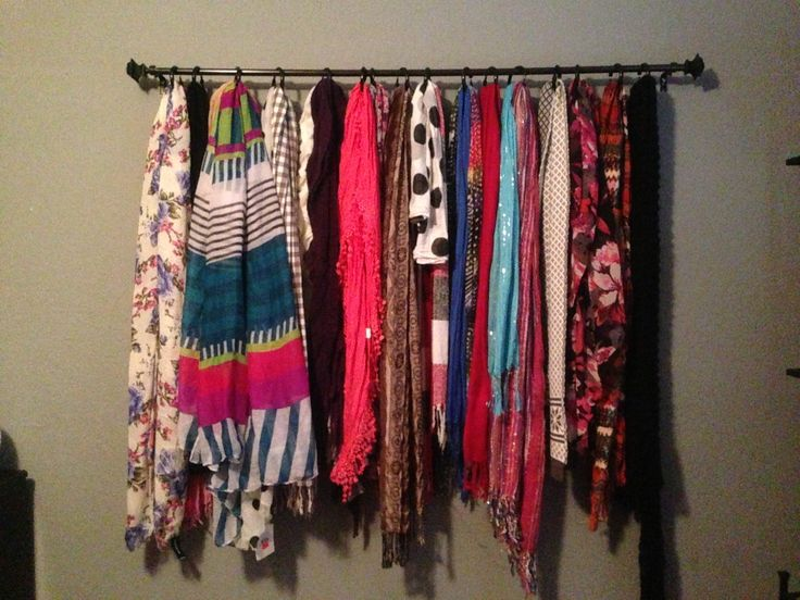 Scarf Storage Scarfs Pinterest Curtain Rods Towels And Bar