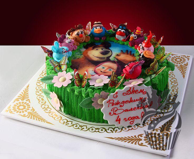 Союз торты на заказ детские маша и медведь