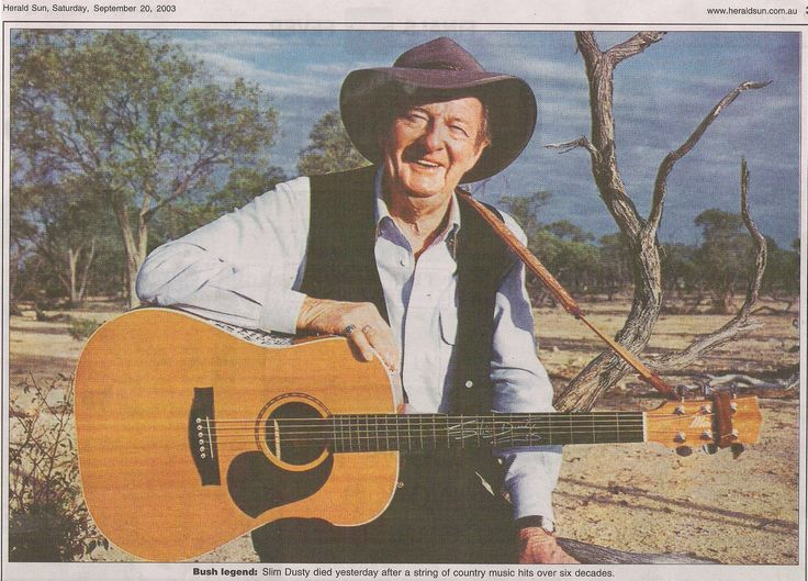 Slim Dusty, the King of Australian Country Music for over 50 years.