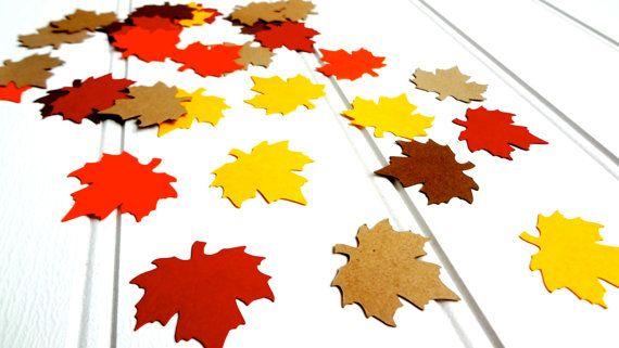 Autumn Leaves Confetti / Leaf Die Cuts / Leaf by ThePaperBazaar, $3.21