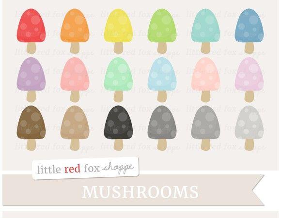 Mushroom Clipart. Printables. $5.00