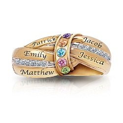 A Mother's Embrace Personalized Birthstone Ring  $129.00