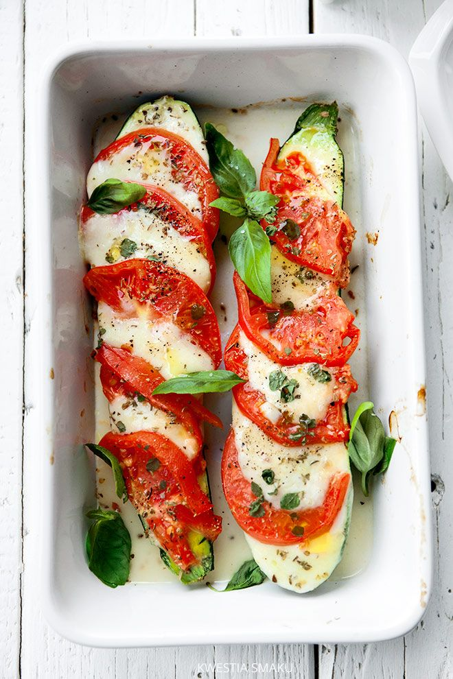 Roasted Zucchini and Tomatoes with Mozzarella