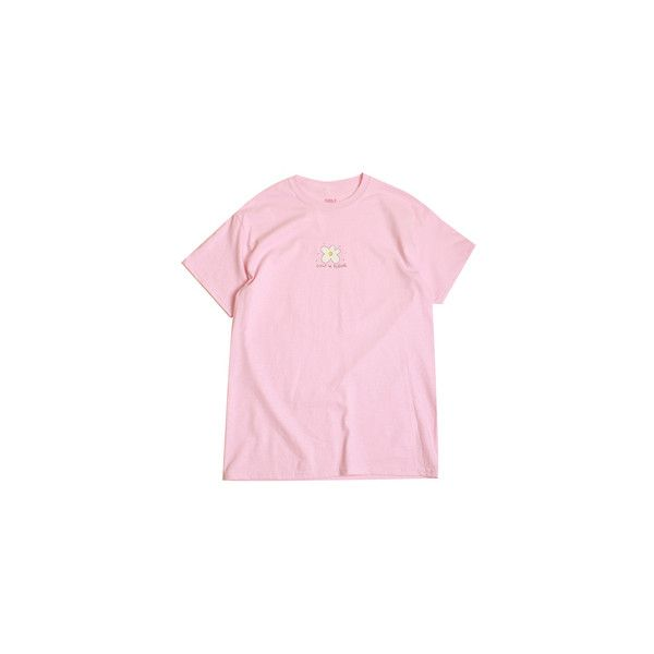 GOLF LE FLEUR SKETCH TEE PINK (8.515 HUF) ❤ liked on Polyvore featuring tops, t-shirts, clothing - ss tops, shirts, pink tee, t shirt, pink top, shirt tops and pink t shirt