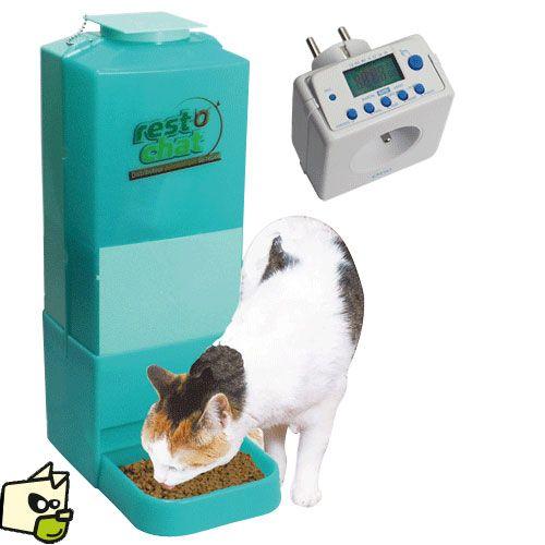 DISTRIBUTEUR croquette AUTOMATIQUE PROGRAMMABLE petit chien chat