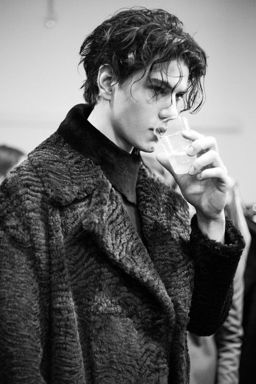 backstage at emporio armani fw14 by virginia acaro