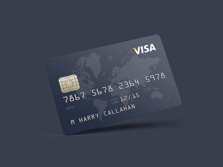 Photorealistic Credit Card Mockup Business Cards Mockup Psd Credit Card Design Free Credit Card