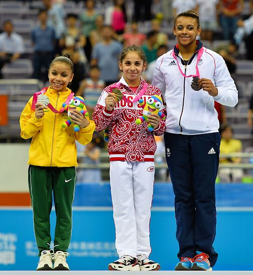 Congrats to the YOG AA medalists: Flavia Saraiva, Seda Tutkhalyan, and Ellie Downie!