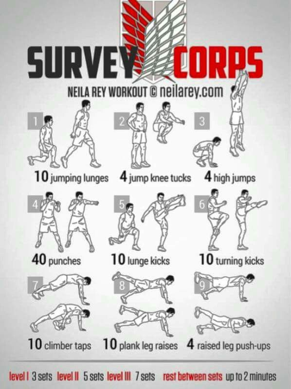 I might do exercise if it's for the Survey Corps