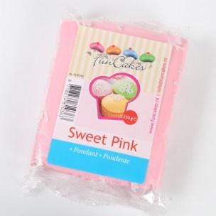 Heerlijke roze rolfondant van FunCakes met vanillesmaak!