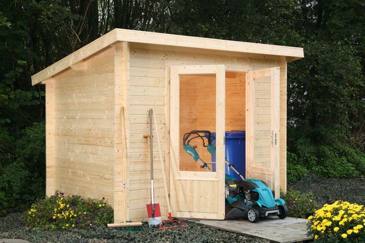 Ideales Gerätehaus - das kleine Gartenhaus Lüttich von Wolff Finnhaus bietet genügend Stauraum. Aktuell bei www.gartenhaus2000.de im Angebot!