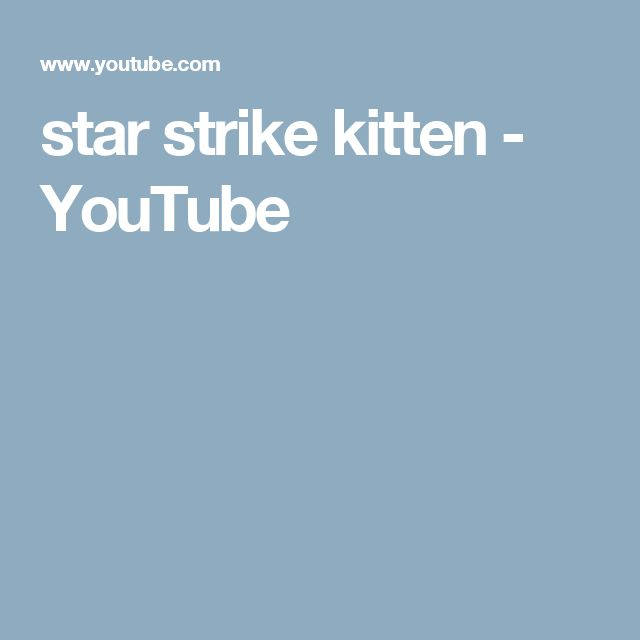 star strike kitten - YouTube