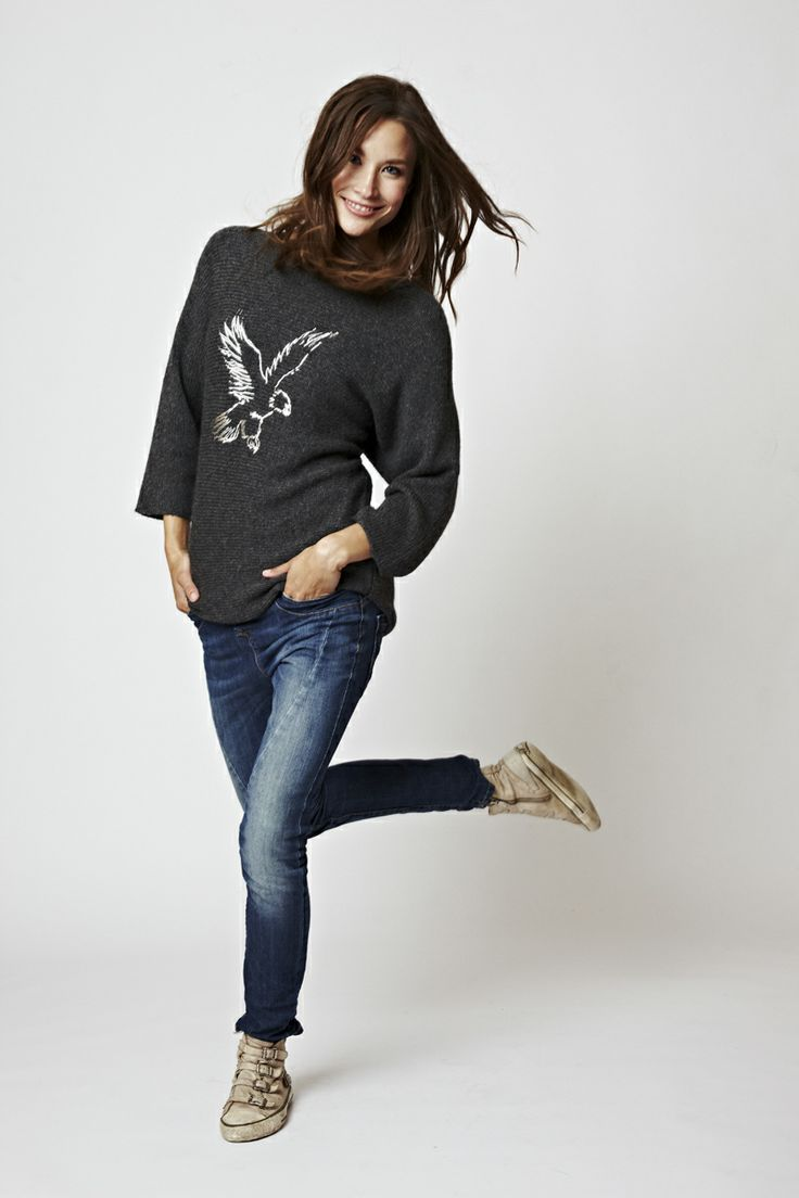 Florence Design Sweater with eagle Print in wool!