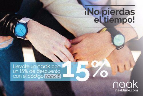 Aprovechar el 15% de descuento de Naak time