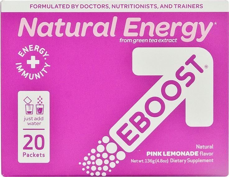 EBoost Natural Energy Effervescent Powder Pink Lemonade