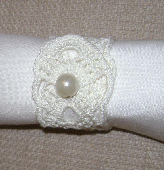 crochet  napkin rings by mehves1979 on Etsy, $35.00