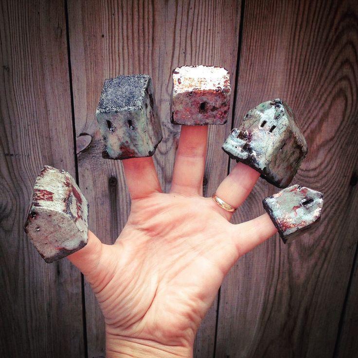 #raku #houses #hand made #Nunhead #London #ceramics #asiaceramics Joanna Szwej-Hawkin