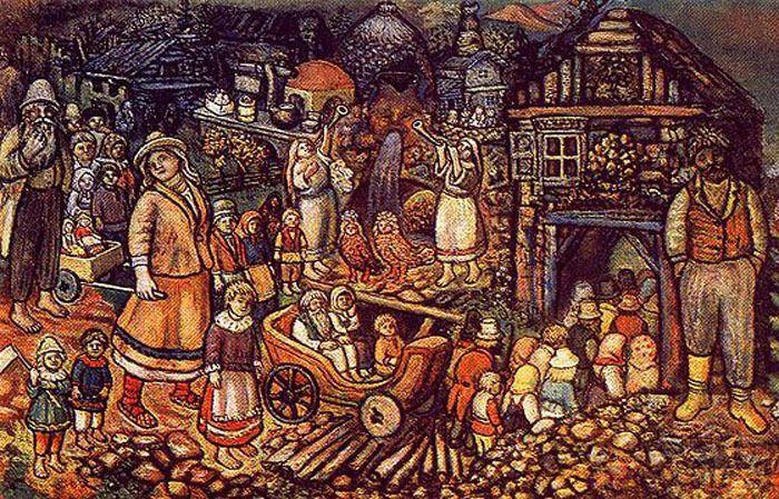 Вход в город всеобщего благоденствия. Автор: Ефим Честняков. +