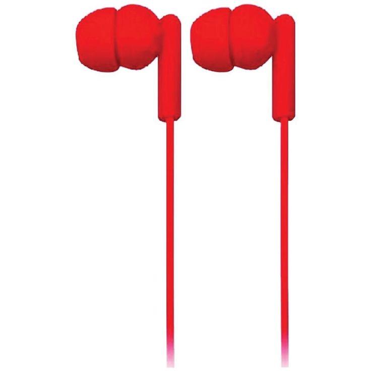 NAXA NE-938 RED SPARK Isolation Stereo Headphones (Red)