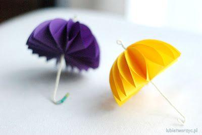 Lubię Tworzyć: Trójwymiarowa parasolka z kółek