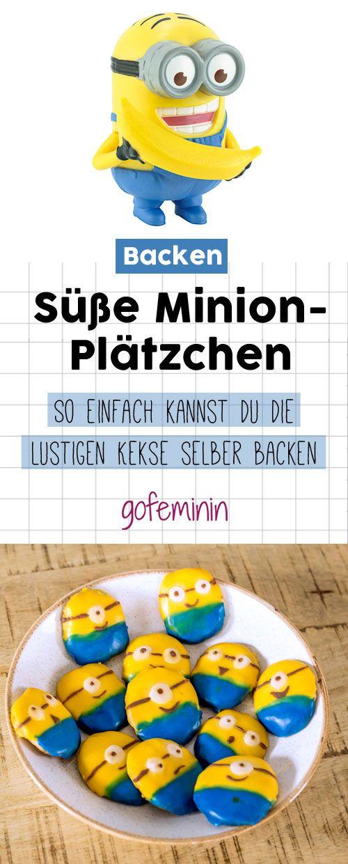 Süße Minion-Plätzchen: Mit diesem Rezept kannst du die lustigen Kekse ganz einfach selber backen
