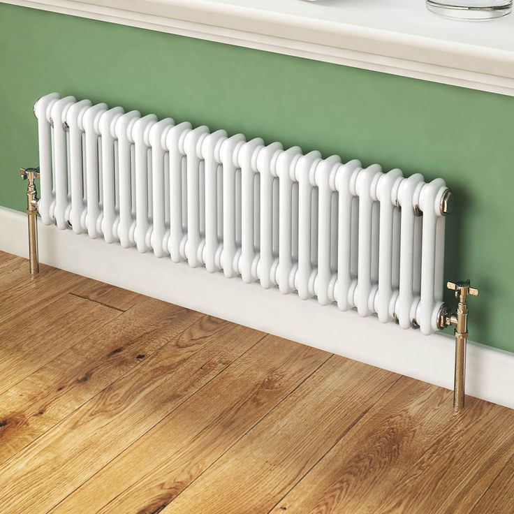 Traditional White Victorian Designer Horizontal Column Radiator 300 x 988 mm
