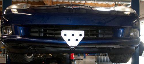 2005-2013 Corvette (C6) base model - Quick Release Front License Plate Bracket