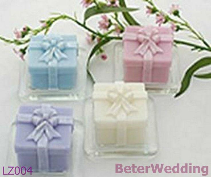 de la boda caja de regalo vela de diseño