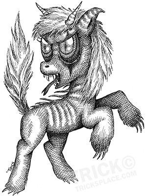 My Little Evil Pony! ;-)  Line art by 'Trick! Tricksplace.com
