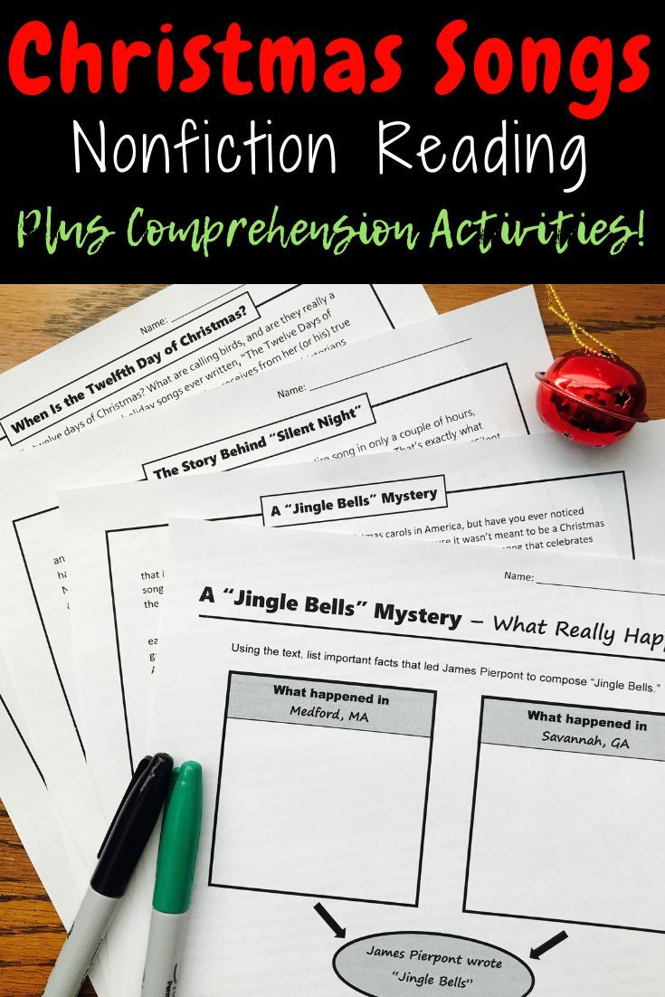 Teach Nonfiction And Poetry Reading Skills During December With This Set Of Chri Christmas Reading Activities Christmas Reading Comprehension Christmas Reading [ 1102 x 735 Pixel ]