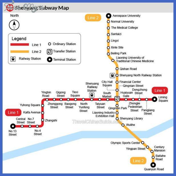 cool Shenyang Subway Map