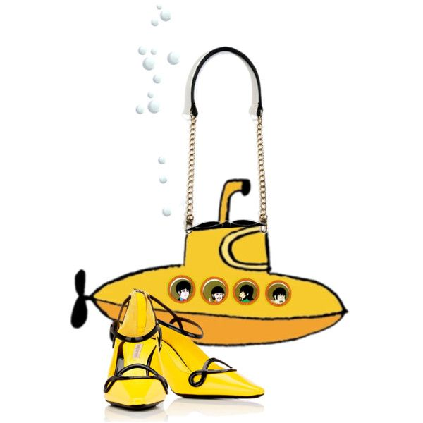 Yellow Submarine shoulder bag design by annacullart on Polyvore
