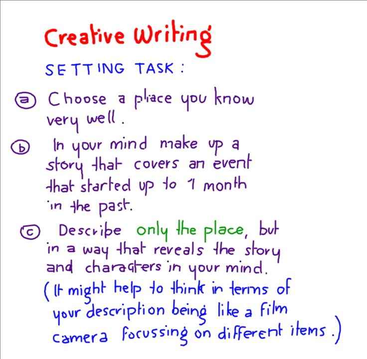 good creative writing exercises Sixth grade creative writing worksheets let your sixth-grade students show you how imaginative they can be, with our most popular creative writing printables we have plenty of poetry and short-story activities for them to enjoy, plus many other types of lessons.