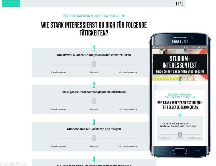 Berufs- und Studienorientierung: Gibt´s da nicht ´ne App für? Ja, z.B. Interessentests. Und die werden hunderttausendfach genutzt.