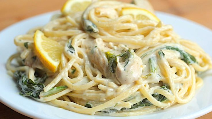 Creamy Garlic Lemon Chicken Linguine - Twisted